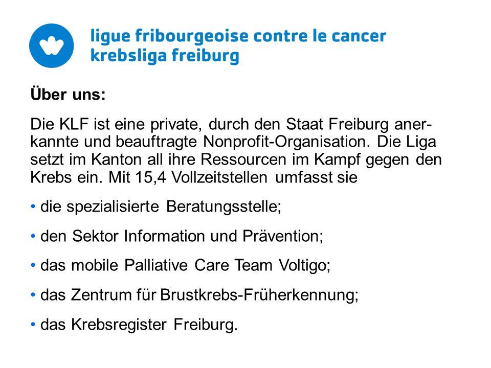 Über uns: Die KLF ist eine private, durch den Staat Freiburg aner- kannte und beauftragte Nonprofit-Organisation.