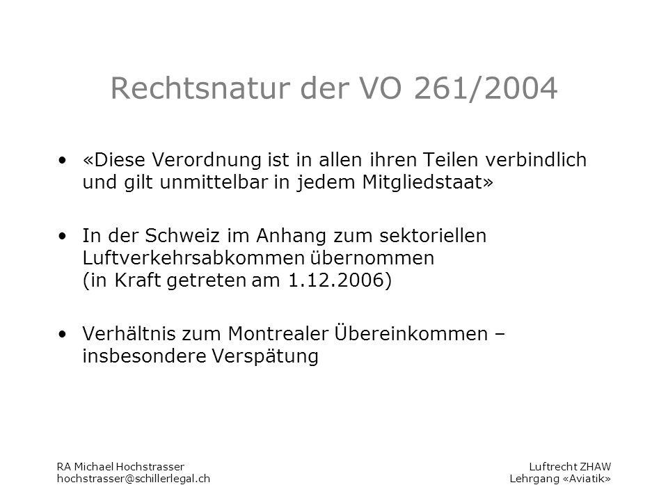 Luftrecht ZHAW Lehrgang «Aviatik» Anwendungsbereich Art.