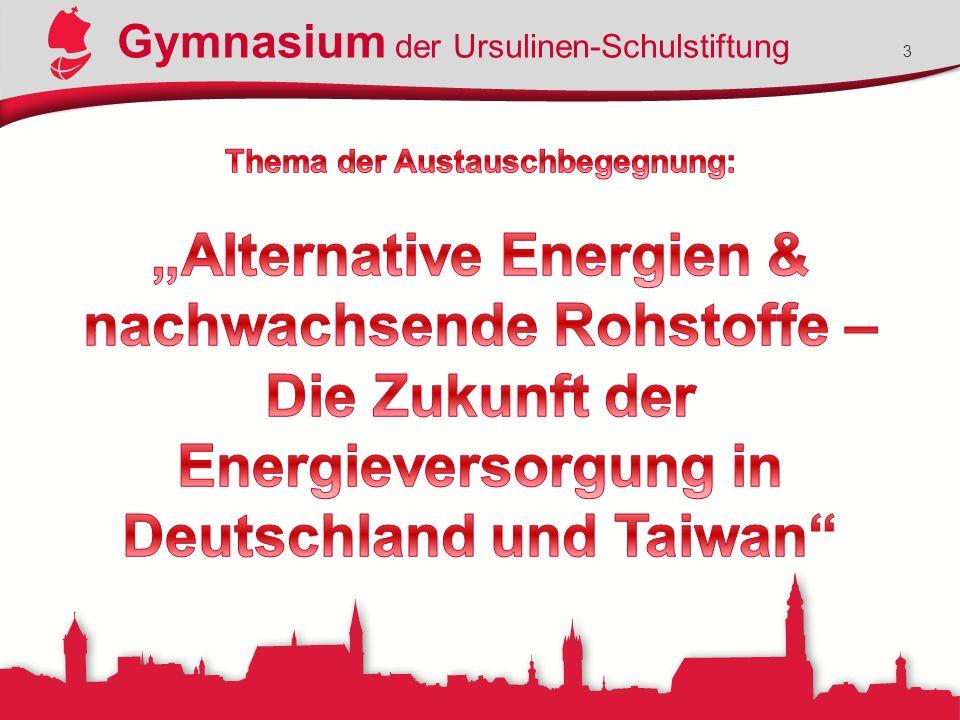 Gymnasium der Ursulinen-Schulstiftung 14 Beispiel eines ausgefüllten Fragebogens des Deutschen Museums zur Energietechnik- Abteilung.