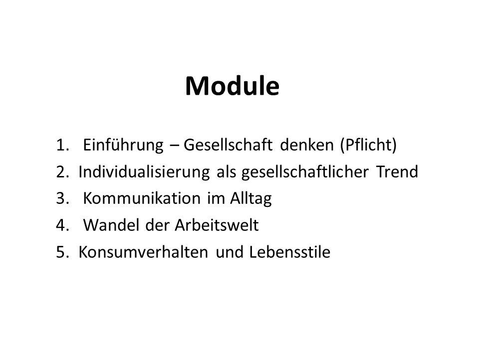 Module 1.Einführung – Gesellschaft denken (Pflicht) 2.