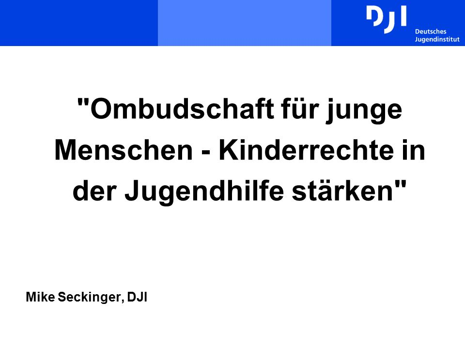 12 Zurück zu Ombudsstellen in der Kinder- und Jugendhilfe Jahresversammlung der AGkE Regensburg 28.01.2010