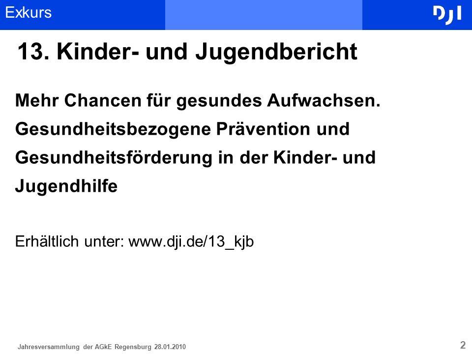 2 13. Kinder- und Jugendbericht Mehr Chancen für gesundes Aufwachsen. Gesundheitsbezogene Prävention und Gesundheitsförderung in der Kinder- und Jugen