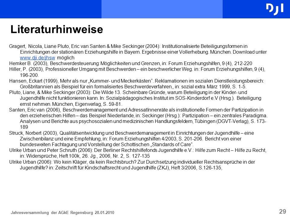 29 Gragert, Nicola, Liane Pluto, Eric van Santen & Mike Seckinger (2004): Institutionalisierte Beteiligungsformen in Einrichtungen der stationären Erz