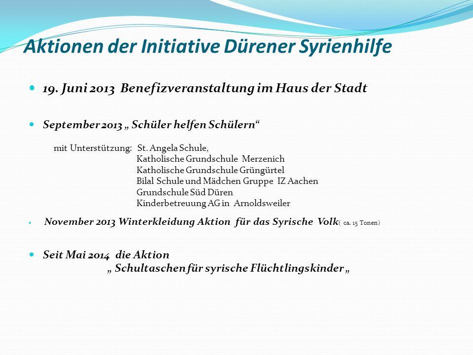 Aktionen der Initiative Dürener Syrienhilfe 19.