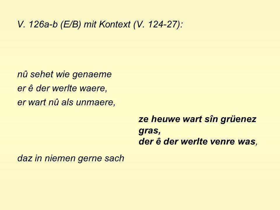 V. 126a-b (E/B) mit Kontext (V.