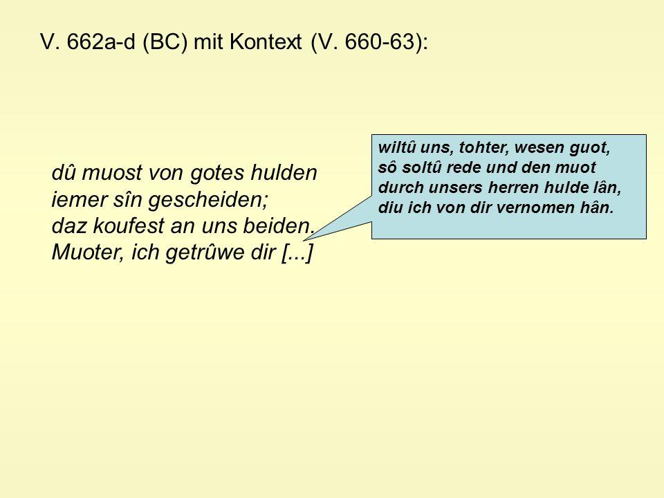V. 662a-d (BC) mit Kontext (V.