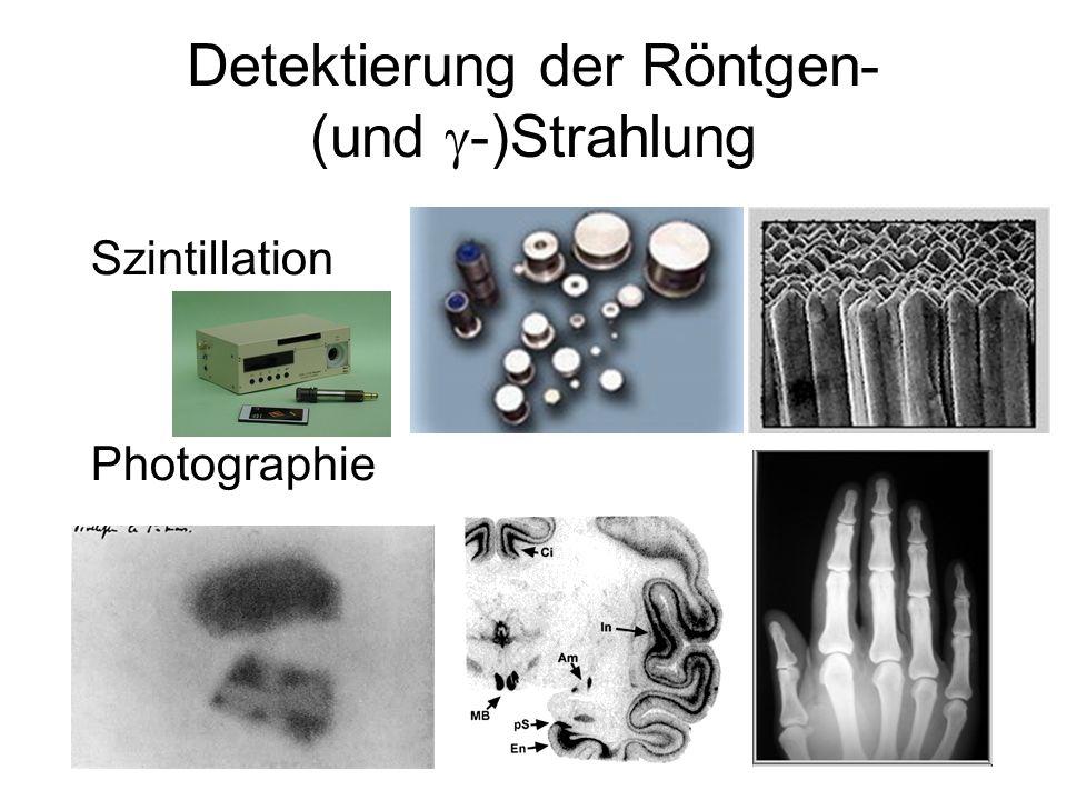 Szintillation Photographie Detektierung der Röntgen- (und  -)Strahlung