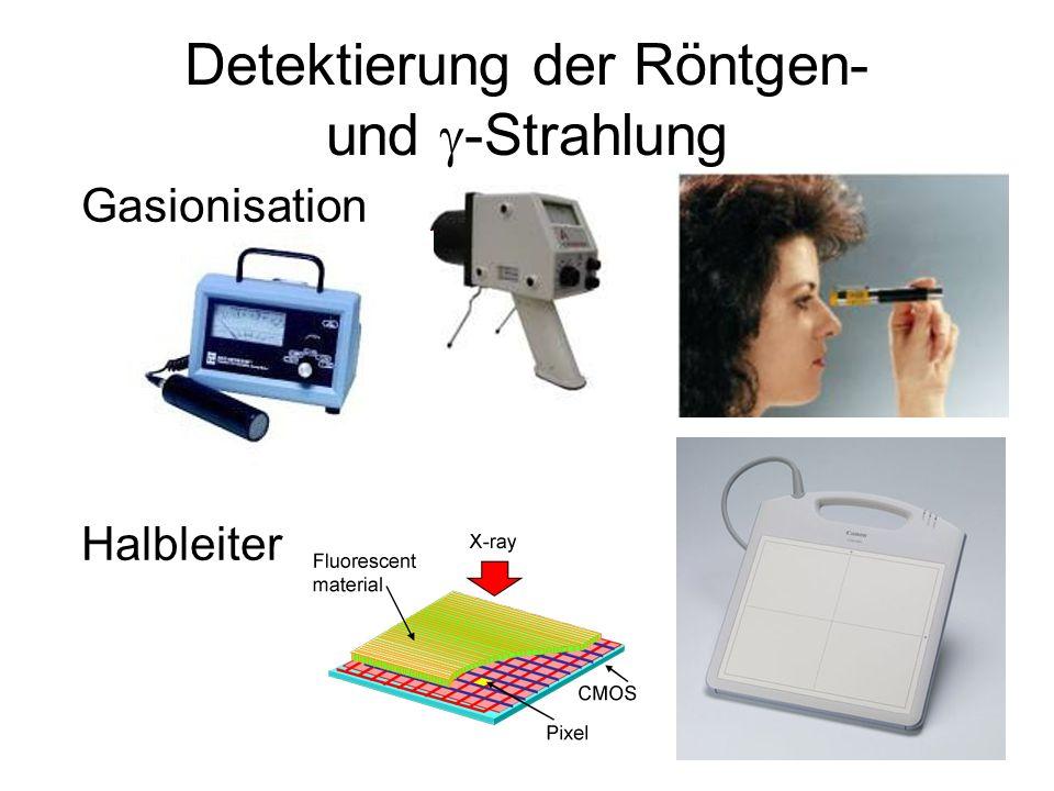 Detektierung der Röntgen- und  -Strahlung Gasionisation Halbleiter