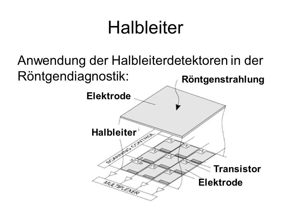 Halbleiter Anwendung der Halbleiterdetektoren in der Röntgendiagnostik: Röntgenstrahlung Elektrode Transistor Halbleiter
