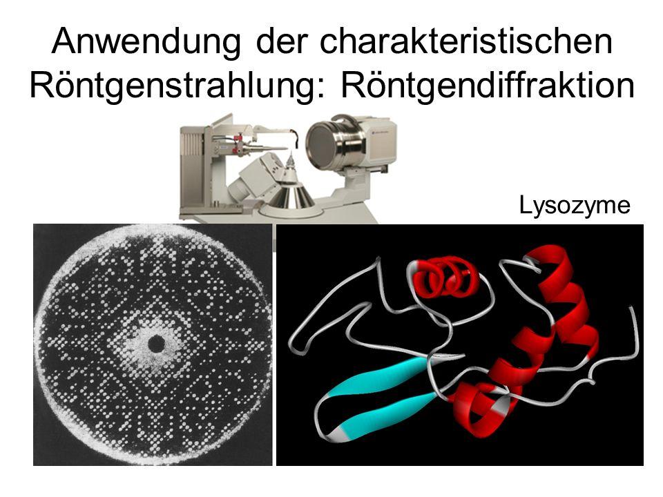 Lysozyme Anwendung der charakteristischen Röntgenstrahlung: Röntgendiffraktion
