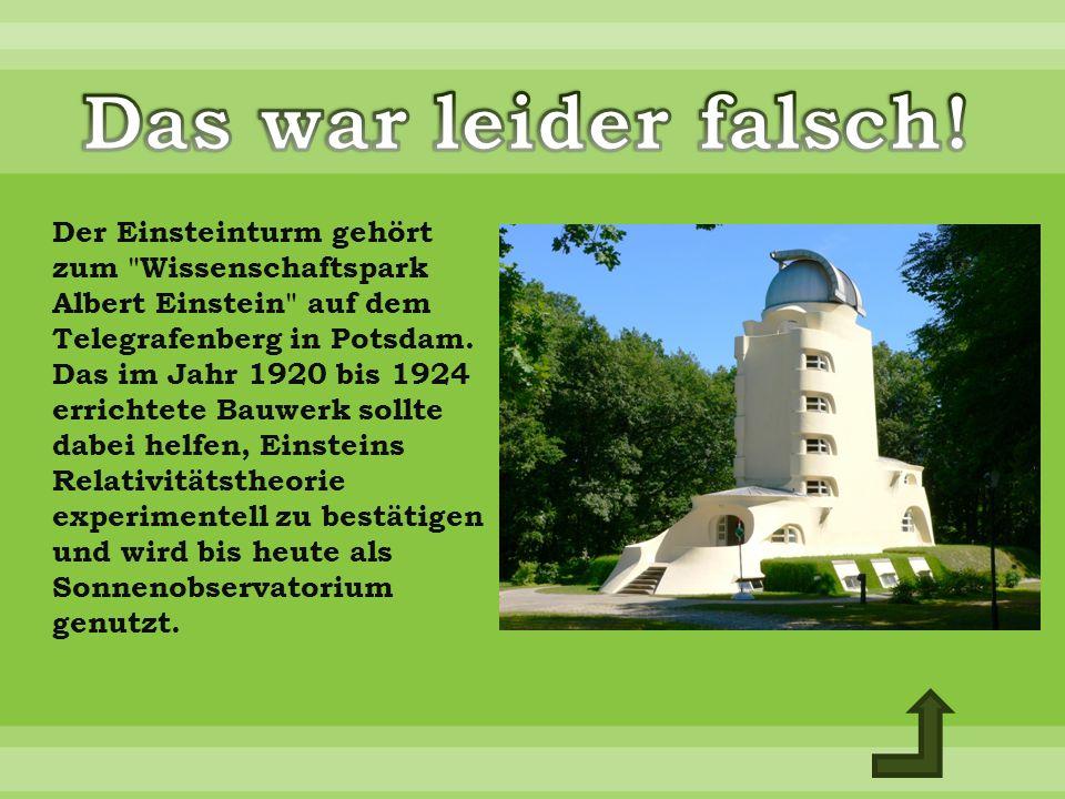 Der Einsteinturm gehört zum Wissenschaftspark Albert Einstein auf dem Telegrafenberg in Potsdam.