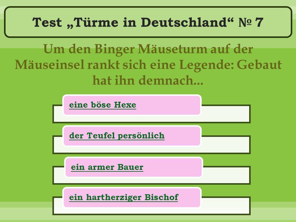 """Test """"Türme in Deutschland № 7 Um den Binger Mäuseturm auf der Mäuseinsel rankt sich eine Legende: Gebaut hat ihn demnach..."""