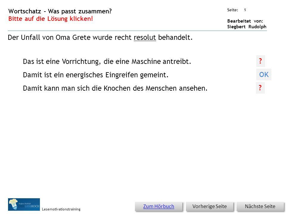 Übungsart: Seite: Bearbeitet von: Siegbert Rudolph Lesemotivationstraining 4 21 Rezept – Kopf hoch – bitte klicken.
