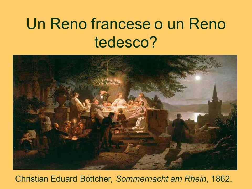 Un Reno francese o un Reno tedesco? Christian Eduard Böttcher, Sommernacht am Rhein, 1862. -
