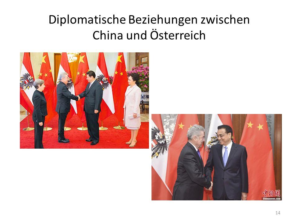 Diplomatische Beziehungen zwischen China und Österreich 14