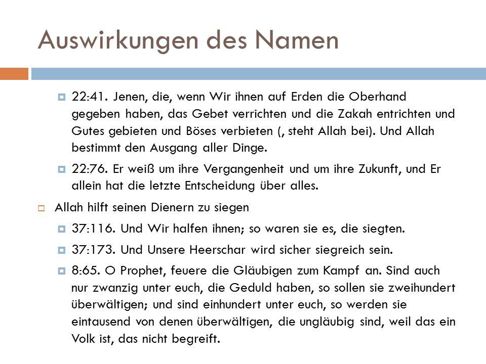 Auswirkungen des Namen  22:41.