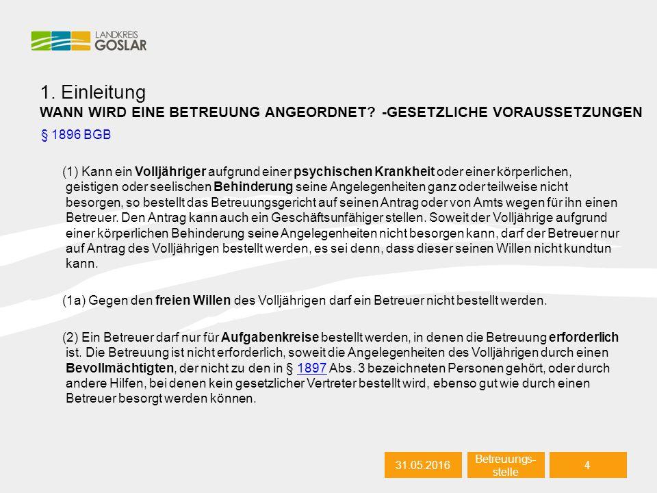 31.05.20165 Autor 1.Einleitung WIE LÄUFT EIN BETREUUNGSVERFAHREN AB.