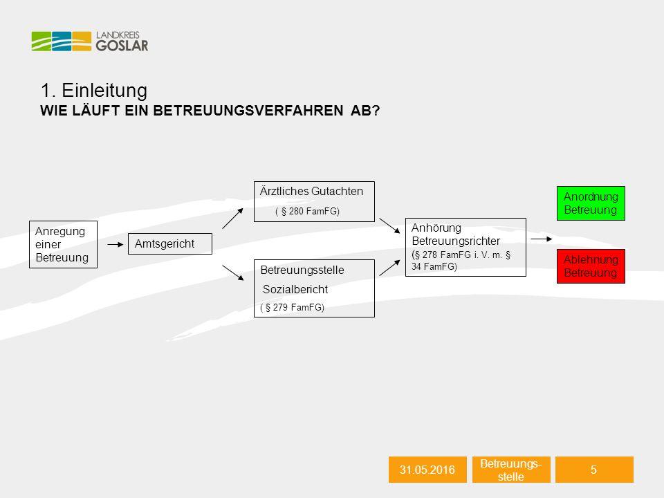 31.05.20165 Autor 1. Einleitung WIE LÄUFT EIN BETREUUNGSVERFAHREN AB.