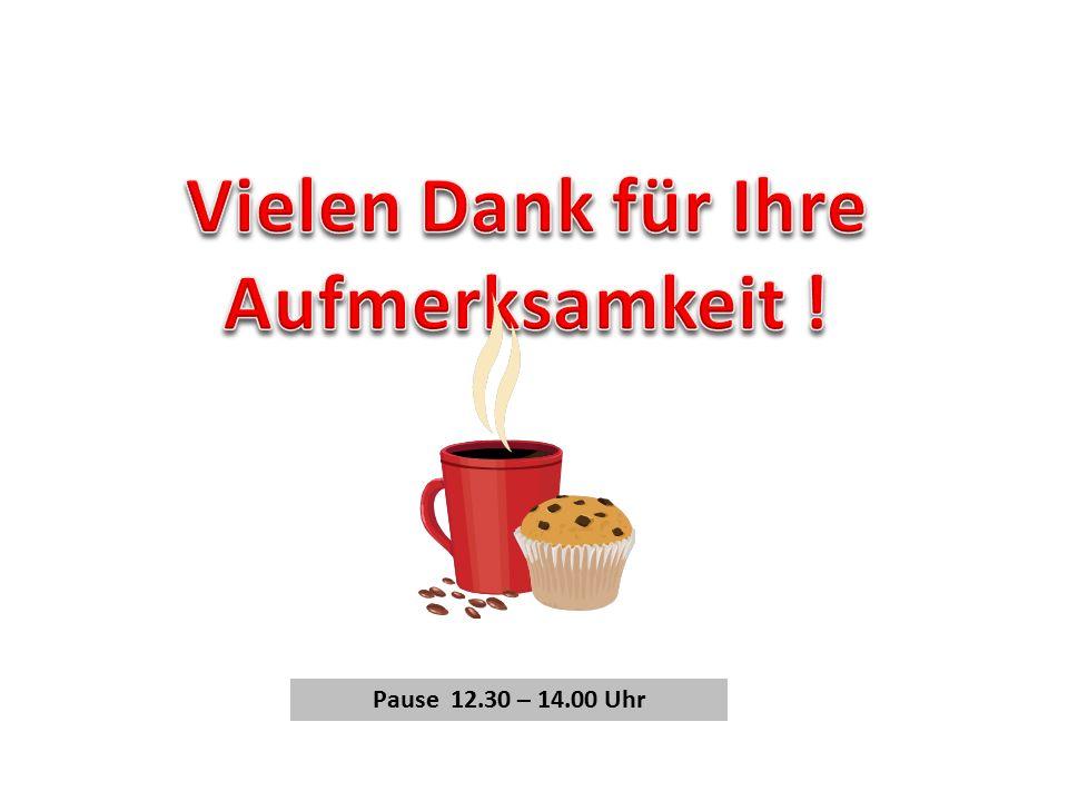 Pause 12.30 – 14.00 Uhr