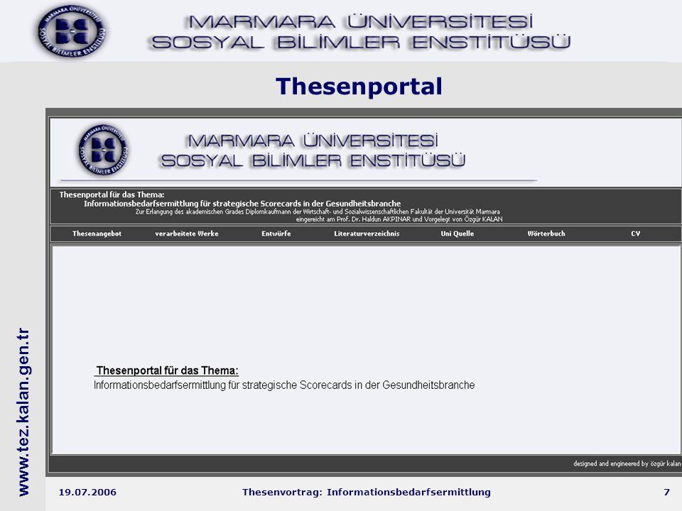 www.tez.kalan.gen.tr 19.07.2006Thesenvortrag: Informationsbedarfsermittlung28 Aufbau von Workshop Gesundheit'2015  Kerngruppe:  T.