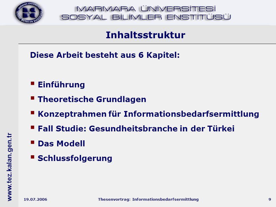 www.tez.kalan.gen.tr 19.07.2006Thesenvortrag: Informationsbedarfsermittlung30 Die Teilnehmer