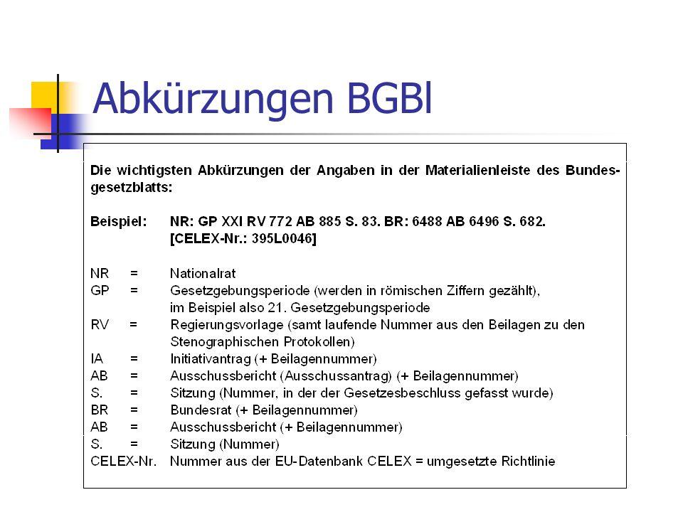 Abkürzungen BGBl