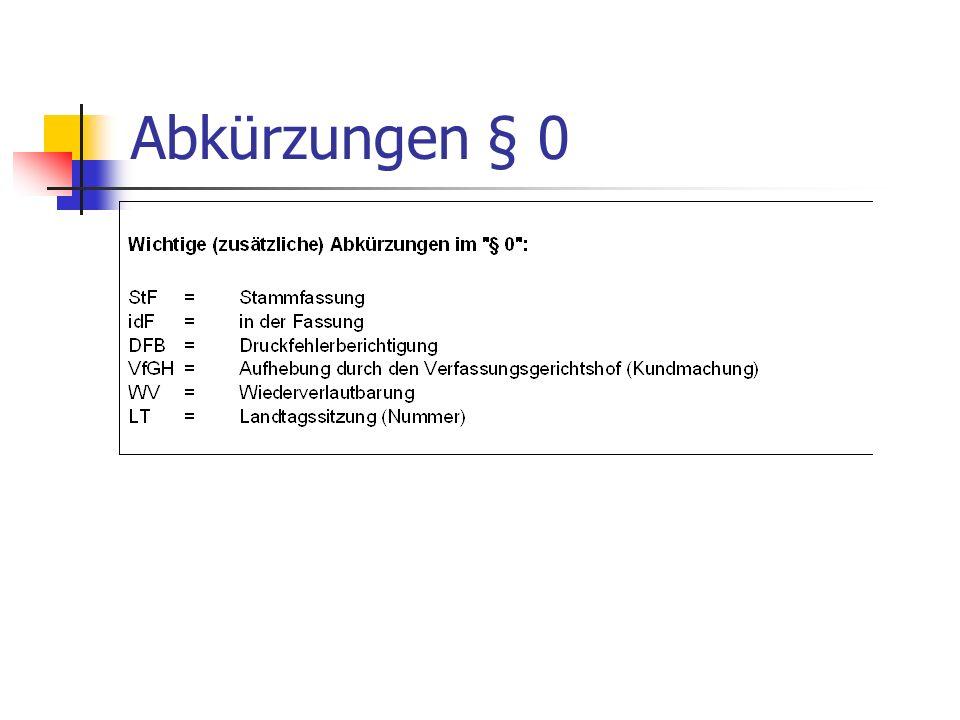 Abkürzungen § 0