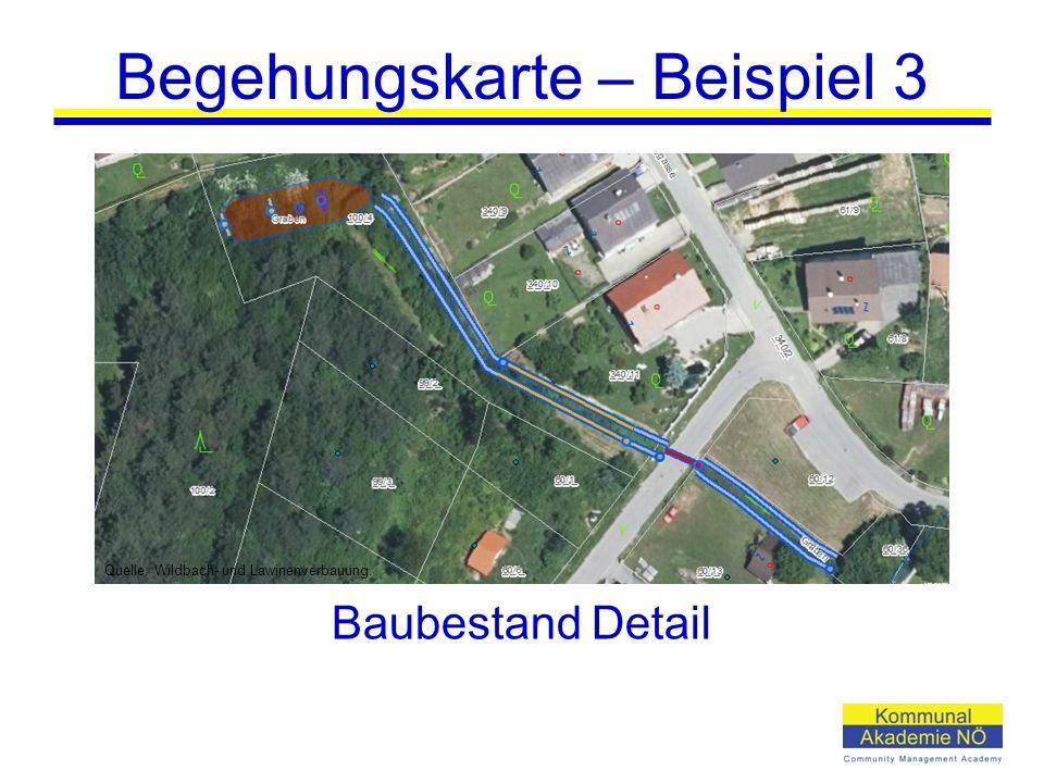 Begehungskarte – Beispiel 3 Baubestand Detail Quelle: Wildbach- und Lawinenverbauung.