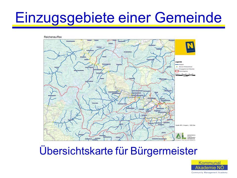Einzugsgebiete einer Gemeinde Übersichtskarte für Bürgermeister