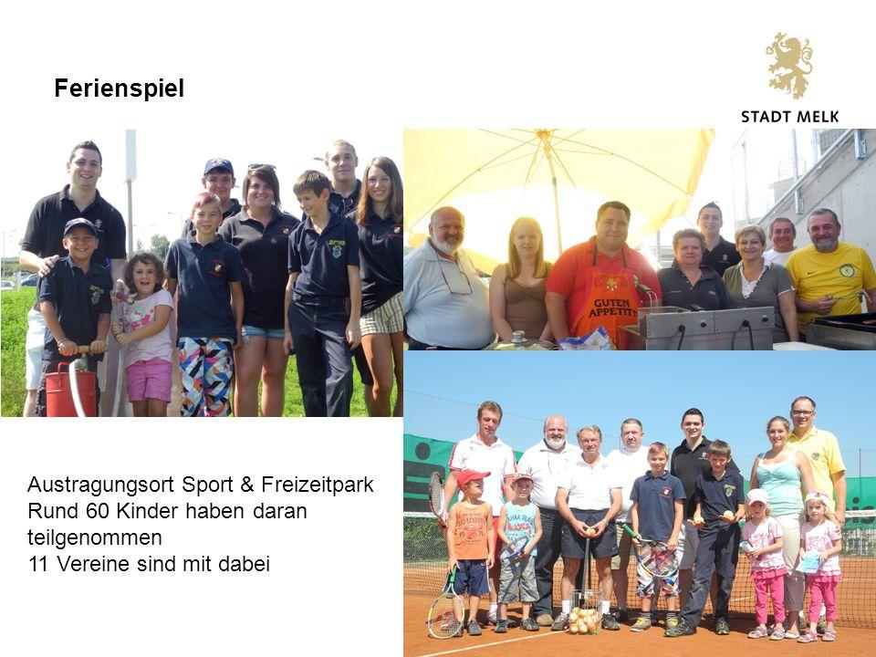 7 Ferienspiel Austragungsort Sport & Freizeitpark Rund 60 Kinder haben daran teilgenommen 11 Vereine sind mit dabei