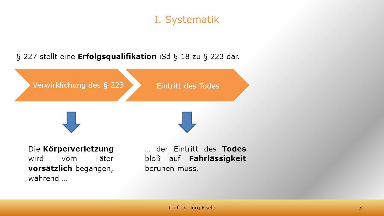 § 227 stellt eine Erfolgsqualifikation iSd § 18 zu § 223 dar.