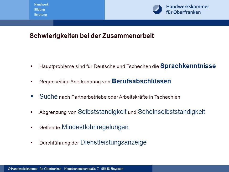 © Handwerkskammer Musterstadt, Musterstraße 123, 12345 Musterstadt© Handwerkskammer für Oberfranken · Kerschensteinerstraße 7 · 95448 Bayreuth Schwier