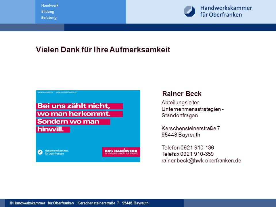 © Handwerkskammer Musterstadt, Musterstraße 123, 12345 Musterstadt© Handwerkskammer für Oberfranken · Kerschensteinerstraße 7 · 95448 Bayreuth Rainer