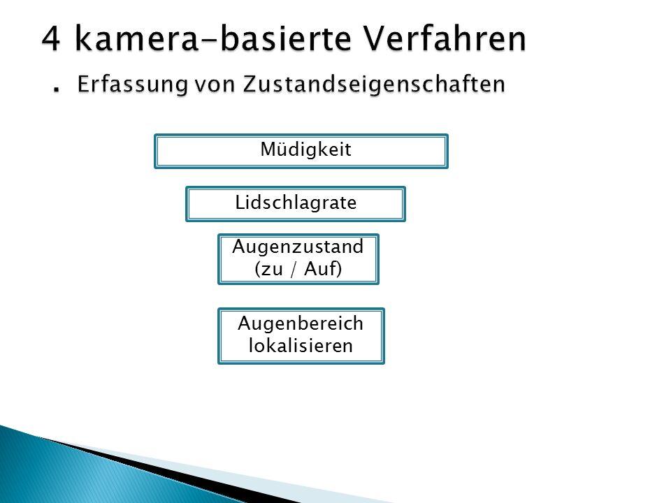 Müdigkeit Lidschlagrate Augenzustand (zu / Auf) Augenbereich lokalisieren