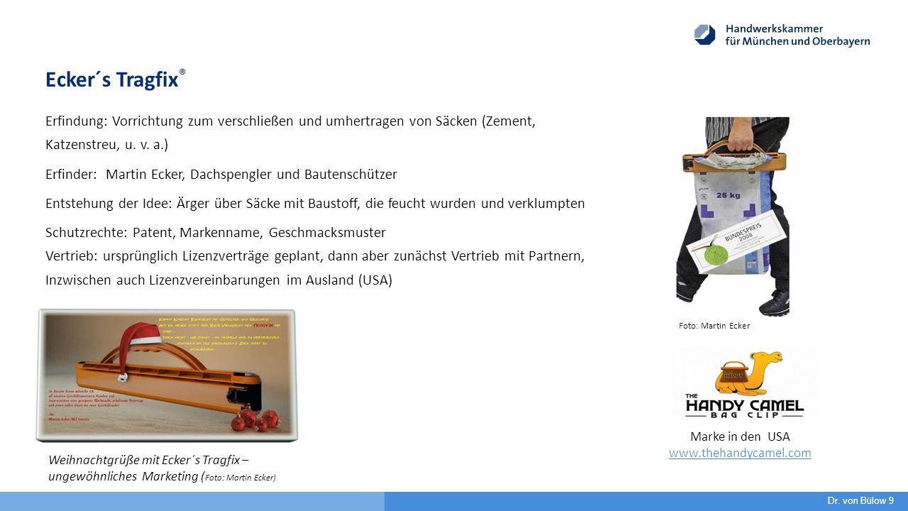 Ecker´s Tragfix ® Erfindung: Vorrichtung zum verschließen und umhertragen von Säcken (Zement, Katzenstreu, u. v. a.) Erfinder: Martin Ecker, Dachspeng
