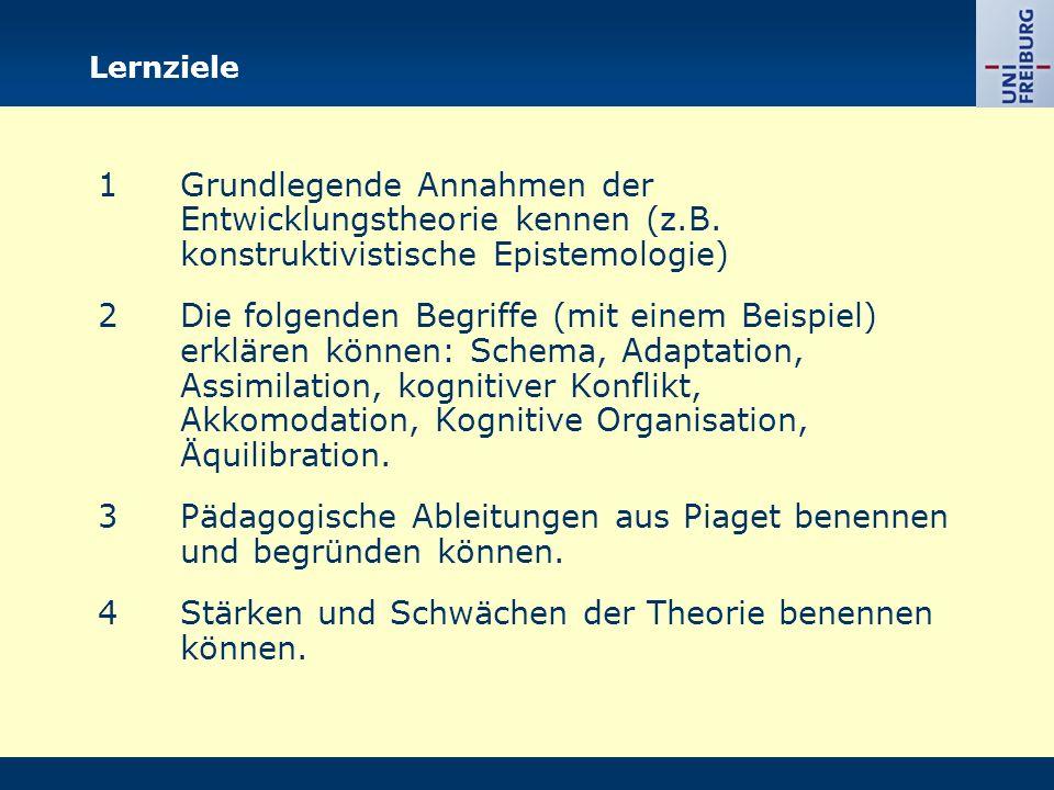 Lernziele 1Grundlegende Annahmen der Entwicklungstheorie kennen (z.B.