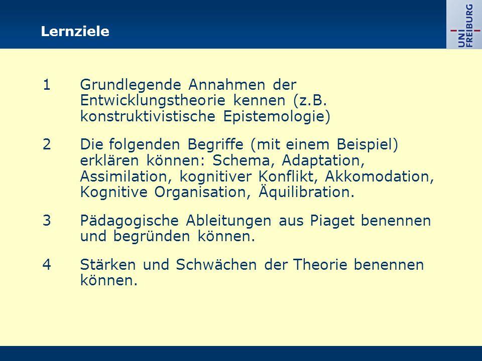 Gliederung I.Phasen der kognitiven Entwicklung II.Annahmen zum Prozess der Entwicklung III.Pädagogische Implikationen IV.Kritik