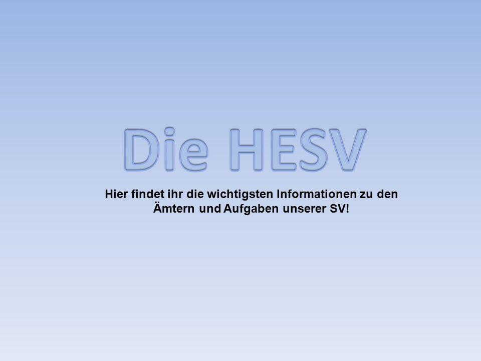 Hier findet ihr die wichtigsten Informationen zu den Ämtern und Aufgaben unserer SV!