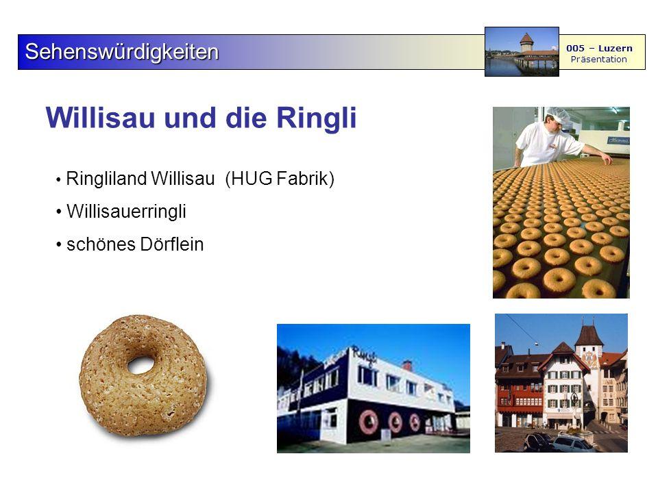 Willisau und die Ringli Sehenswürdigkeiten 005 – Luzern Präsentation Ringliland Willisau (HUG Fabrik) Willisauerringli schönes Dörflein