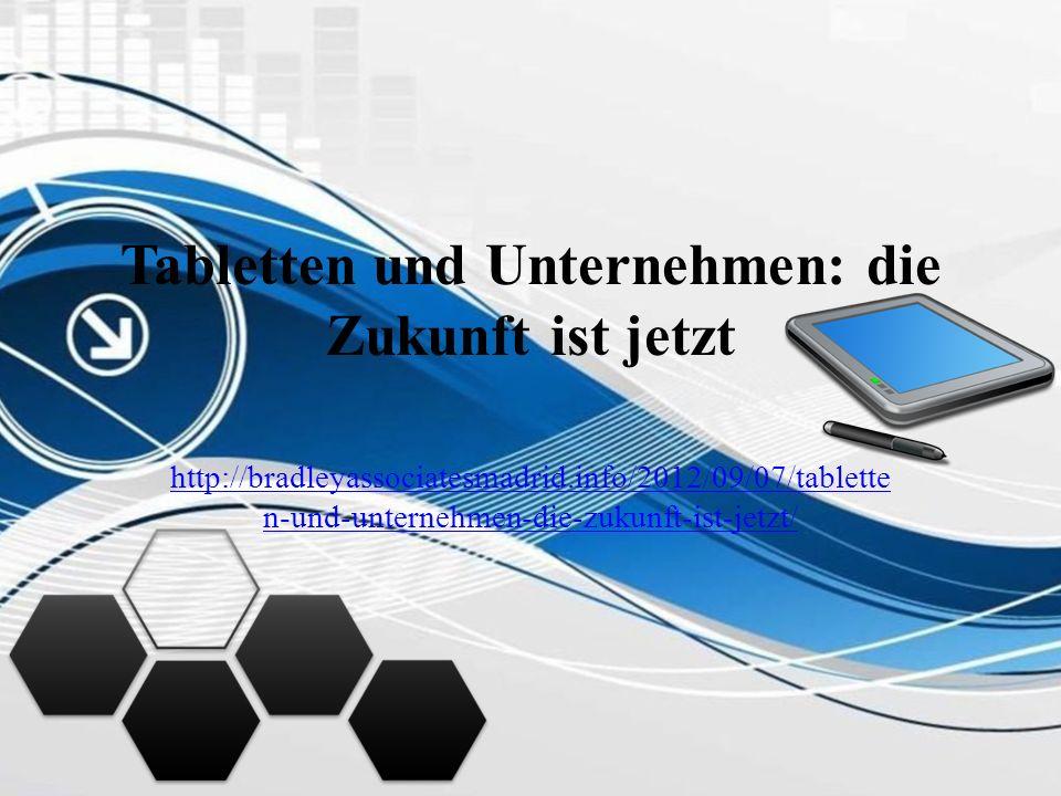 Tabletten und Unternehmen: die Zukunft ist jetzt http://bradleyassociatesmadrid.info/2012/09/07/tablette n-und-unternehmen-die-zukunft-ist-jetzt/