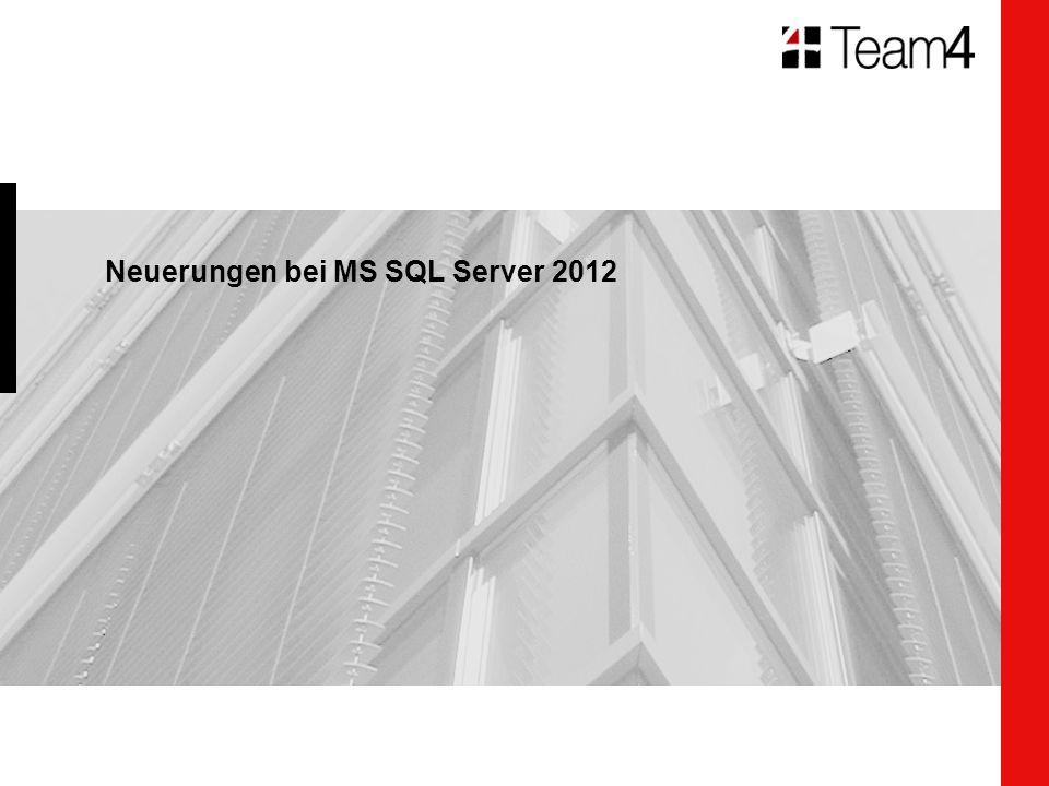 Neuerungen bei MS SQL Server 2012