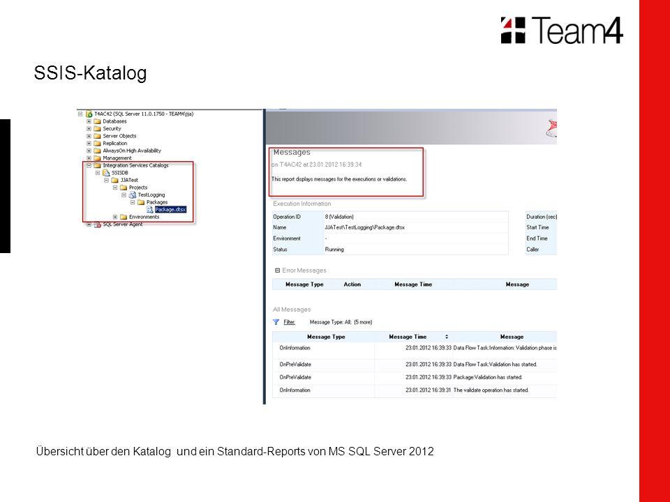 SSIS-Katalog Übersicht über den Katalog und ein Standard-Reports von MS SQL Server 2012