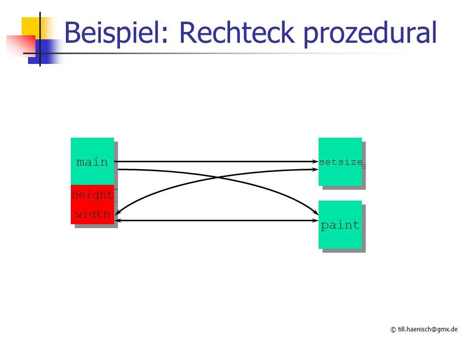 © till.haenisch@gmx.de Beispiel: Rechteck prozedural paint main height setsize width