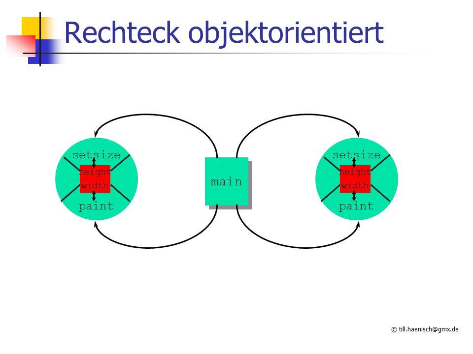 © till.haenisch@gmx.de Rechteck objektorientiert height setsize paint width main height setsize paint width