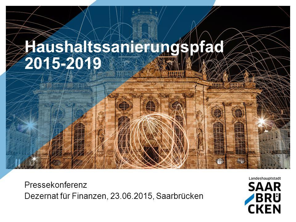 Haushaltssanierungspfad 2015-2019 Pressekonferenz Dezernat für Finanzen, 23.06.2015, Saarbrücken