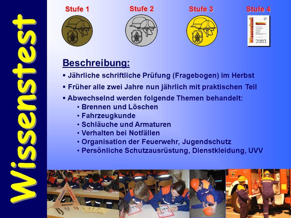 Bayerisches Leistungsabzeichen Bayerisches Leistungsabzeichen Bronze Abnahme:  Feuerwehrebene  Schiedsrichter des Landkreises  Termin nach Vereinbarung mit dem KBI Voraussetzungen:  Truppmannausbildung begonnen  Alter: 16 bis 63 Jahren