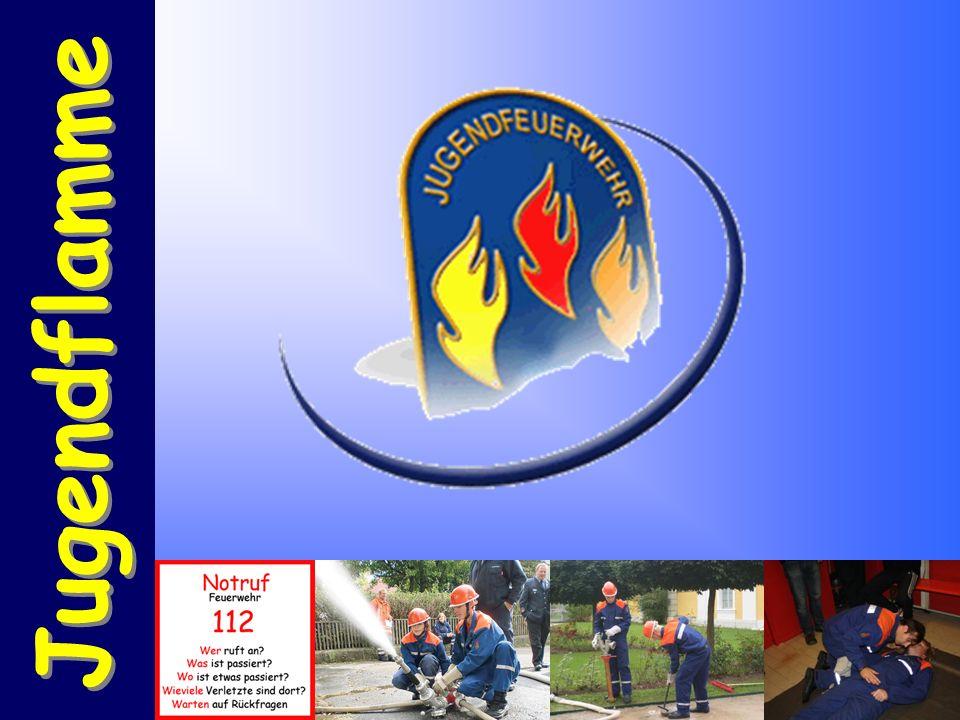 Stufe 1 Stufe 2 Stufe 3 Beschreibung: Die Jugendflamme ist ein Ausbildungsnachweis in Form eine Abzeichens für Jugendfeuerwehrmitglieder.