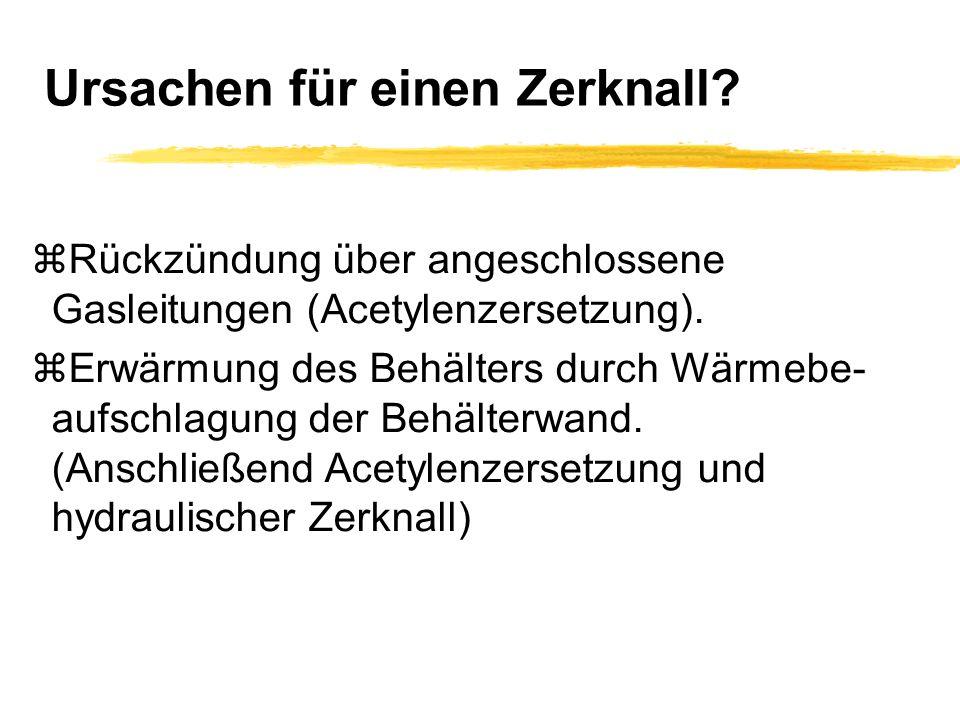 Manipulationen am Ventil.zNicht beim Zerfallsbrand (Ruß tritt aus).