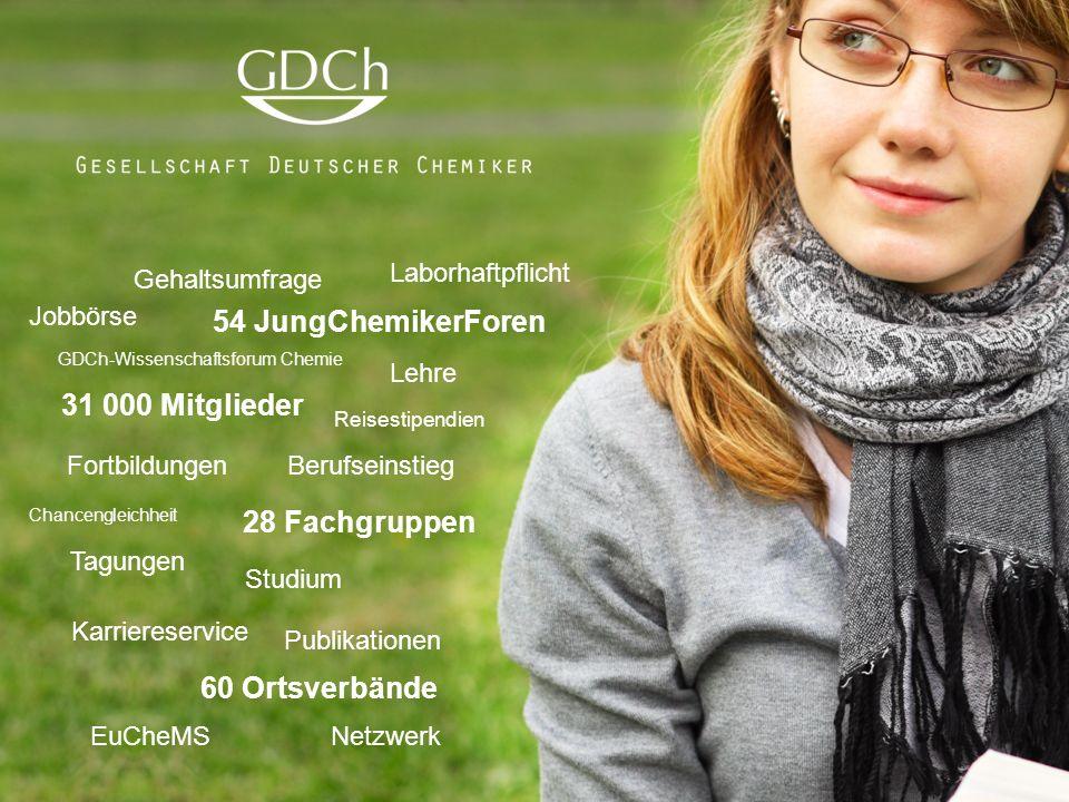 GDCh-Karriereservice: Hilfe zum Berufseinstieg  www.gdch.de/karriere Magazin «Nachrichten aus der Chemie»  www.gdch.de/nachrichten 54 Regionalforen des JungChemikerForums mit mehr als 10 000 Jungmitgliedern  www.jungchemikerforum.de Mentoring-Programm «CheMento»: Profitieren Sie von der Erfahrung unserer Mitglieder  www.gdch.de/mentoring Reisestipendien  www.gdch.de/stipendien Laborhaftpflichtversicherung  www.gdch.de/haftpflicht Kostenfreier Zugang zum RÖMPP online  www.gdch.de/roempp …für nur 2,50 € pro Monat Studentisches Mitglied in einem lebendigen Netzwerk werden: www.gdch.de/beitritt Studentisches Mitglied in einem lebendigen Netzwerk werden: www.gdch.de/beitritt © GDCh 2016 Vorteile für studentische Mitglieder