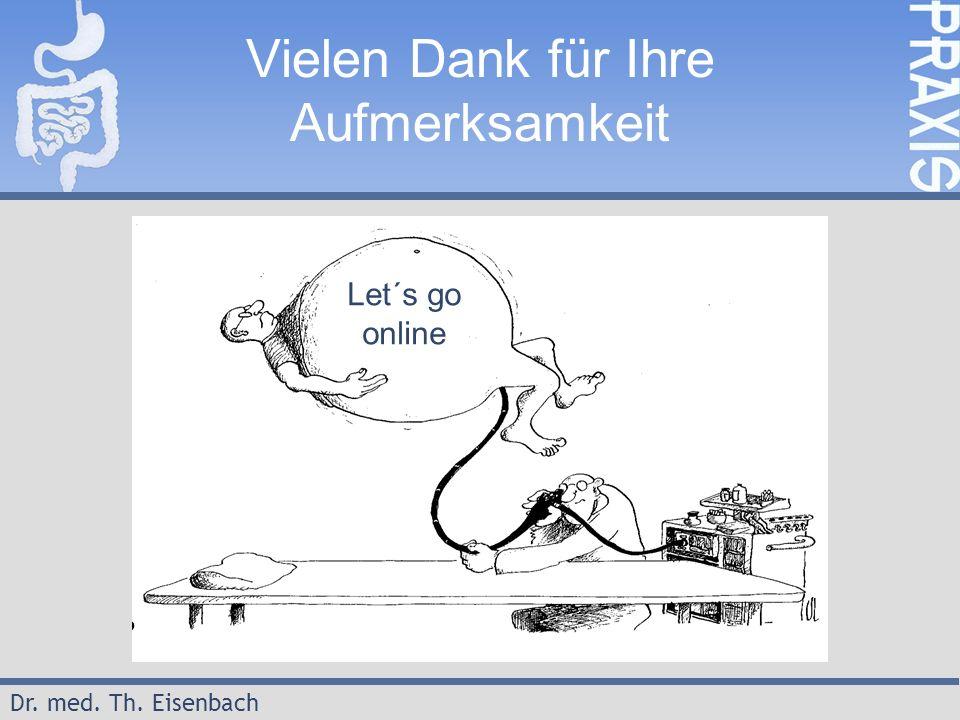 Dr. med. Th. Eisenbach Vielen Dank für Ihre Aufmerksamkeit Let´s go online